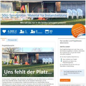 Spendenaktion SG Unterstedt